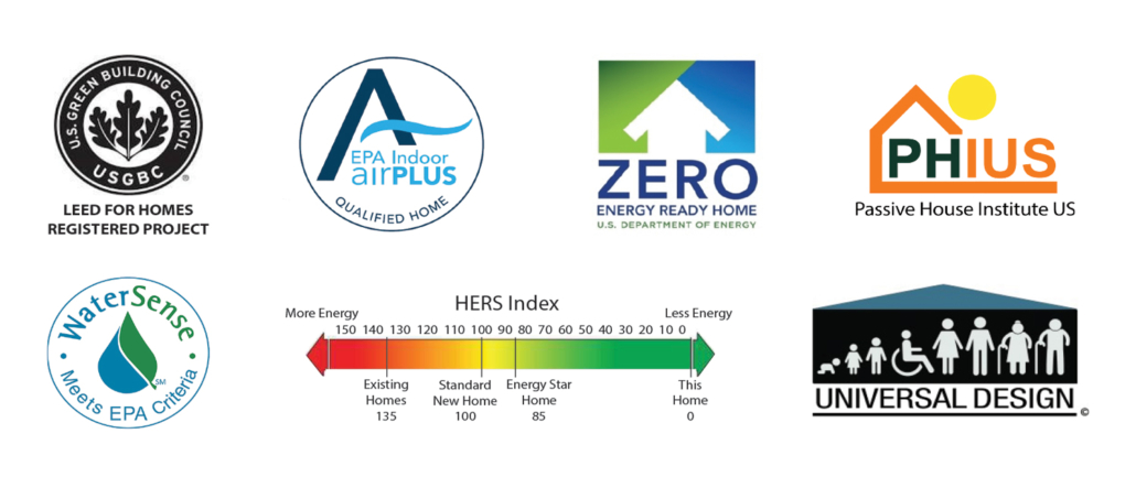 LEED Platinum Net Zero PHIUS Water Sense Air Plus Universal Design